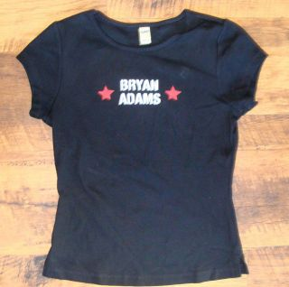 Bryan Adams Concert Tour Black Tee Shirt Jr Size Medium NEW 100%