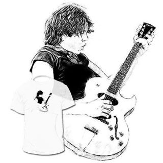 George Thorogood T shirt Eric Clapton Jimmy Page Drawings Are