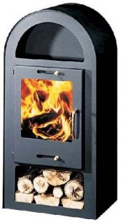 Burning Contemporary Multi fuel Stove 10kw Henley Wood Burner Fire