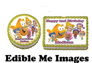 BUBBLE GUPPIES Birthday Party Cake Topper Cupcake Decoration Edible