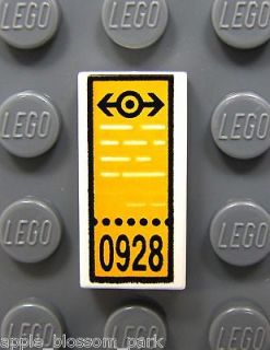 NEW Lego City Minifig TRAIN/BUS TICKET 1x2 White DECORATED TILE w