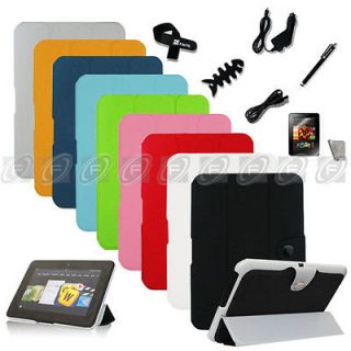 Slim PU Leather Cover Case Accessory Bundles F Kindle Fire HD 8.9