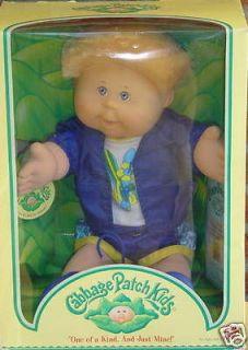 Play Along Cabbage Patch Kid boy Blonde Cornsilk Hair ~ MIB ~ 5/29