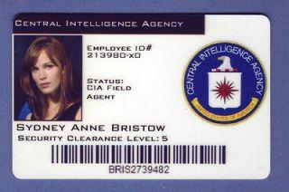 CIA ID Card Alias Sydney Anne Bristow Badge Wallet