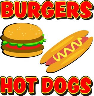 Hot Dogs Burgers Restaurant Concession Food Decal 12