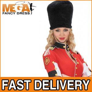 Royal Guard Hat Busby Bearskin Adults British National Fancy Dress