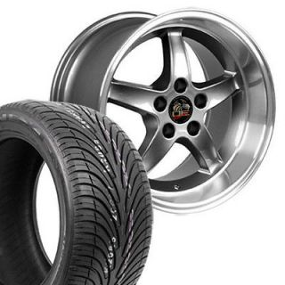 17 9/10.5 Black Bullitt Wheels Nexen Tires Bullet Rims Fit Mustang