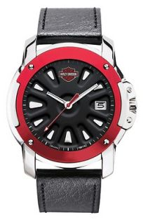 HARLEY DAVIDSON MENS BULOVA WRIST WATCH NEW