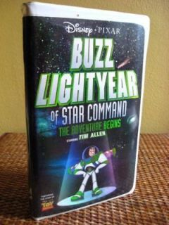 Disney BUZZ LIGHTYEAR Adventure Begins TOY STORY Vhs
