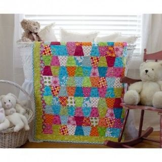 PRE CUT Baby Quilt Kit fabric & pattern included tumblers quilting