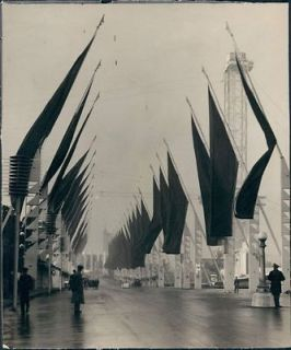 1933 Chicago Illinois Worlds Fair Century Of Progress Avenue Of Flags
