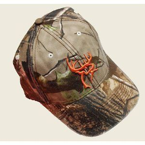 NEW BUCK COMMANDER CAMO AND ORANGE BUCK LOGO CAP HAT DUCK