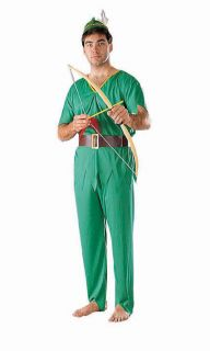 ROBIN HOOD OR ELF Green Merry Men Adult Costume A26