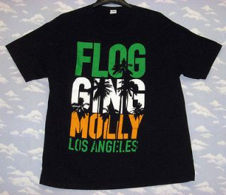 FLOGGING MOLLY LOS ANGELES T SHIRT CALIFORNIA LA Sz XL