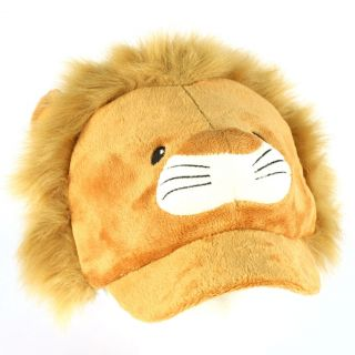Winter Faux Fur Lion Animal Fuzzy Plush Cadet Cap Hat