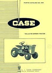 Case 130 180 Garden Tractor Parts Catalog Manual A954