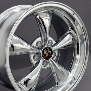 Single 18x9 Chrome Bullitt Wheel Fits Mustang® 94 04