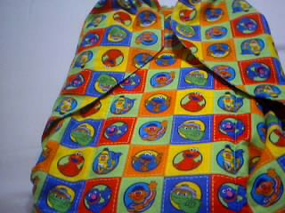 ADULT SISSY BABY DL FLANNEL CLOTH DIAPER XL 44 WAIST COOKIE MONSTER