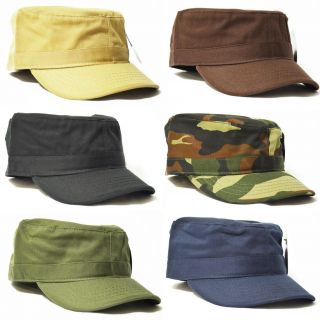 PC ETHOS FINE COTTON HIGH QUALITY FITTED ARMY MILITARY CADET HAT CAP