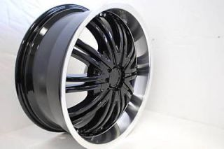 Four brand New 18 Black Wheels Rims Cadillac Deville Seville Pontiac