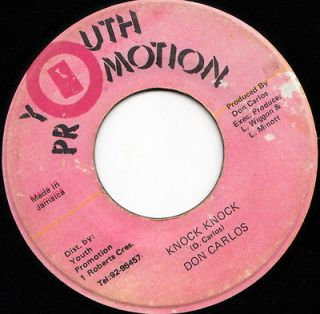 YOUTH PROMOTION KILLER ROOTS 45 DON CARLOS KNOCK KNOCK ♫