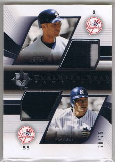 DEREK JETER HIDEKI MATSUI 04 ULTIMATE COLLECTION DUAL PATCH GAME USED