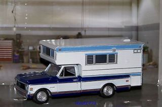 1972 72 CHEVY C 20 PICKUP TRUCK WITH CAMPER TOP MINT 1/64 SCALE
