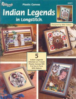 Indian Legends in Longstitch ~ Plastic Canvas, Soft Cover Book