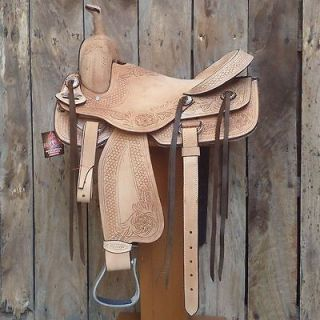 hilason western big king wade ranch roping saddle 16 c041
