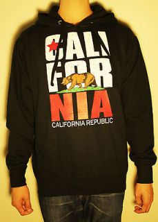 CALIFORNIA REPUBLIC HOODIE MENS WOMENS KIDS SIZES CALI LEAF