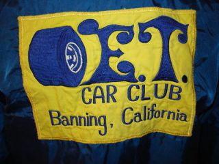 vtg 70s E.T. CAR CLUB nylon windbreaker jacket CHEVROLET CORVETTE