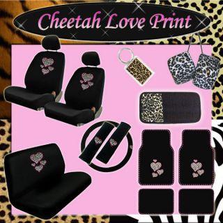 cheetah car seat covers