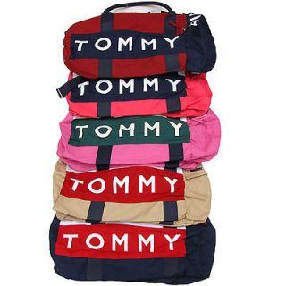Tommy Hilfiger Duffle Bag Large Travel Gym Logo Duffel Bag Black Blue
