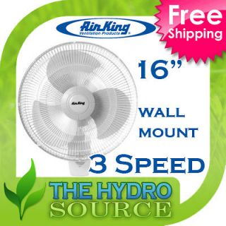 Air King 16 Oscillating Wall Mount Fan 16 inch   co2 3 speed