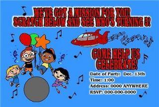 LITTLE EINSTEINS BIRTHDAY PARTY INVITATION SCRATCH OFF