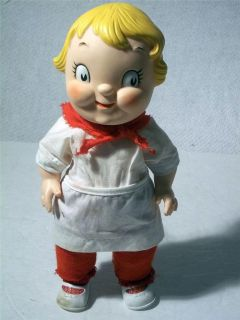Vintage Campbells Soup Kid Girl Vinyl 10 Doll Dressed As Baker W