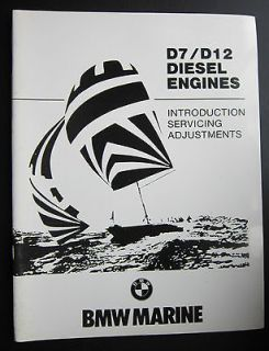 BMW Marine Engine D7 D12 Diesel Engine Manual Introduction Service