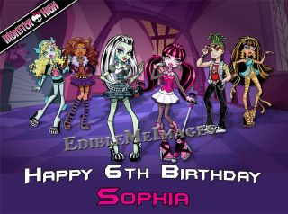 MONSTER HIGH Birthday Party Cake Topper Cupcake Decoration Doll Image