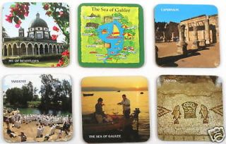 Holy Land of Jesus Galilee Map Christian Sites Cup Mug COASTERS