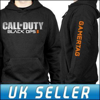 Call of Duty Black Ops 2 Xbox 360 PS3 Black Hoodie Hoody Personalised