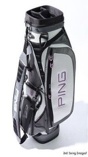 MINT Ping Golf Cart Bag 9 Mouth 4 Way Top Single Shoulder Strap Black