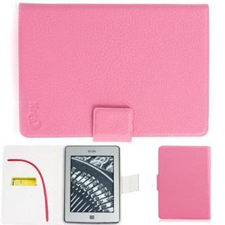 Pink Slim Flip Folio Case Cover for 6 Sony Reader PRS T1, PRS T2