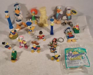 of Disney DONALD DUCK DAISEY HUEY DUEY SCROOGE MCDUCK toys figures B