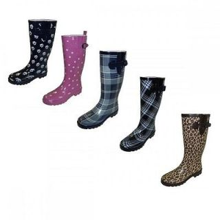 Womens Rubber Rain Boots 5 Different Style Colors To Choose From