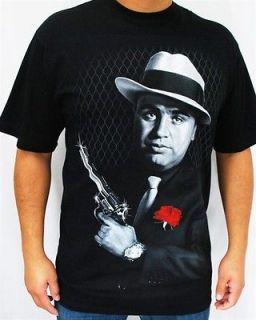 Club Urban Capone T Shirt Black Hip hop mens clothing tattoo gangster