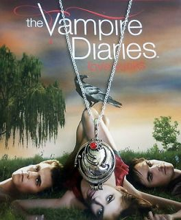 THE VAMPIRE DIARIES ELENAS LOCKET NECKLACE VERVAIN FILLED*