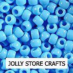 LIGHT BLUE 9x6mm 500pc Pony Beads hair paracord jewelry rave kandi