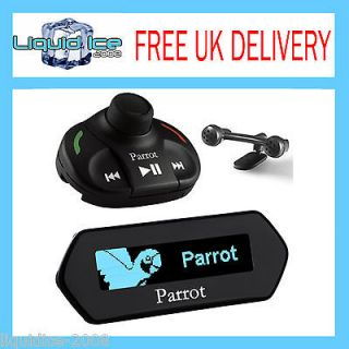 PARROT MKI 9100 BLUETOOTH HANDS FREE CAR KIT IPOD & IPHONE & BLUE OLED