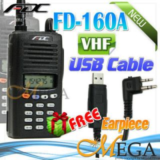 FDC FD 160A VHF 136 174Mh Ham Radio + 6 059 Usb cable 2235B Car cable