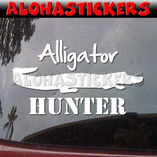 HUNTER Hunting Gator Car Truck Graphics Vinyl Decal Window Sticker I98